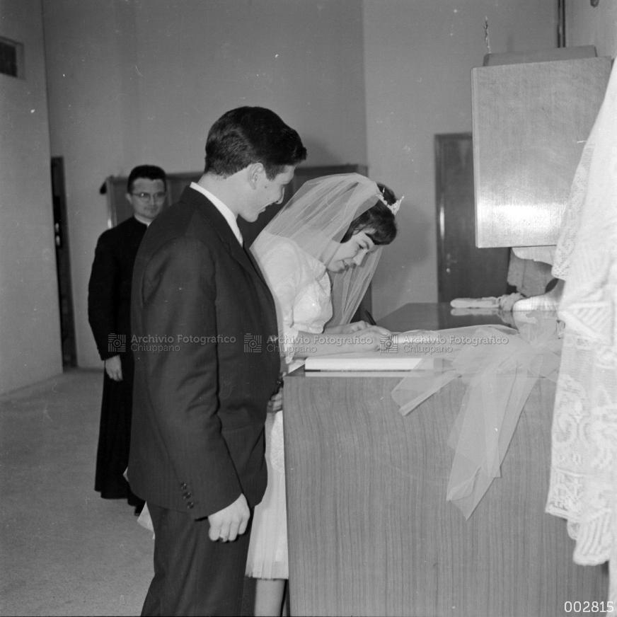 Matrimonio di Bacchiega Mario con Dal Santo Gabriella